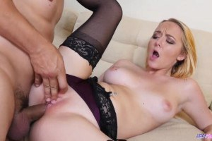 Iris Rose sexy blonde babe pounded after teasing her boyfriend