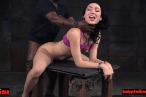Disobedient hottie Aria Alexander overruled by two doms