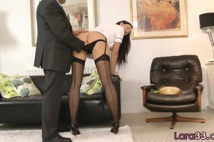 Milf nurse likes foreplay with older man