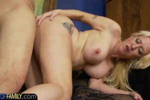 Alana Evans busty blonde stepmom can't get enough cock