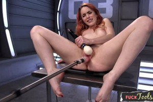 Amarna Miller hot Spanish Redhead fucked by a machine