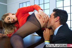 Giselle Palmer hottest secretary pussylicked from behind and fucked by the boss