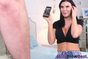 Jasmine Jae wants to suck stepson's dick after seeing some dick pics