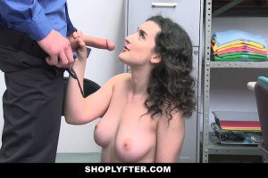 Lyra Lockhart fucked and creampied for shoplifting