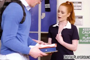 Ella Hughes fucks the new guy to raise money for the girls rugby team