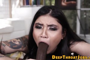 Brenna Sparks face fucked by a BBC