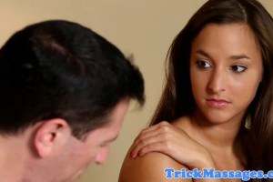 Beautiful Amirah Adara tricked into giving a handjob to the masseur