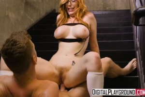 Lauren Phillips busty redheaded schoolgirl assfucked by the professor