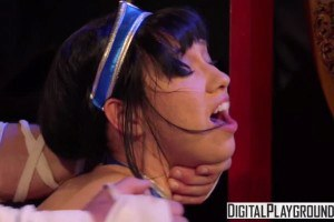 Aria Alexander getting fucked in Mortal Kombat porn parody