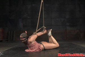 Flexible babe is sensory deprived and bound