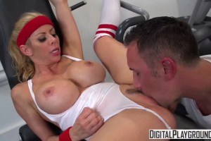 Alexis Fawx licked and fucked at the gym by her instructor