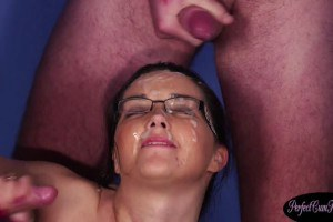 Dicksucking european girl glazed with cum