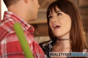 Alison Rey is ready to fuck her stepbrother for a ride to town