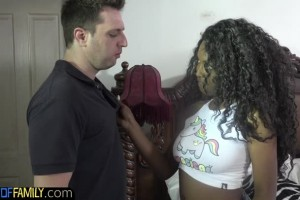 Daya Knight beautiful ebony teen wants stepdad's big white cock