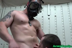Muscular military gays ass ravaging troops