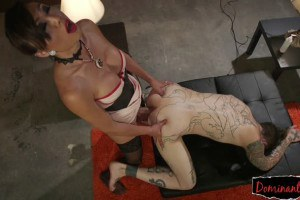Dominant asian ts banging studs ass