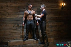 Tiedup boy dominated over and disciplined