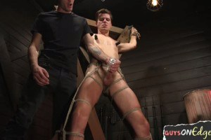 Cocksucked slave edged before unloading