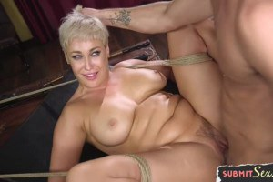 Choked MILF Ryan Keely gets drilled by master