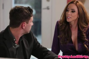 Ariella Ferrera cheating MILF rides younger dick