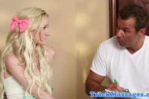 Skylar Green sweet blonde teen gets corrupted by the masseur