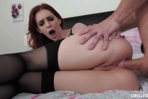 Redhead Maya Kendrick Just Loves Taking A Stiff Cock In Her Ass