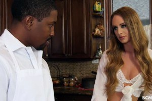 Daisy Stone fulfills her big black cock fantasies in the kitchen