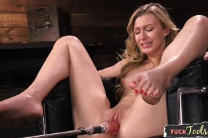 Alexa Grace innocent blonde babe fucked by a machine