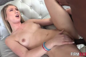 April Aniston sweet 18yo blonde tries interracial anal