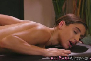 Abella Danger gets pleasured during massage