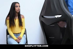 Kiarra Kai beautiful Latina fucked for shoplifting