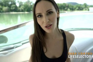 POV anal yacht Sex with beautiful teacher Lilu Moon