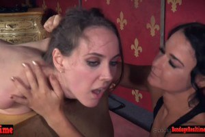 Bent and broken bdsm chick is lashed