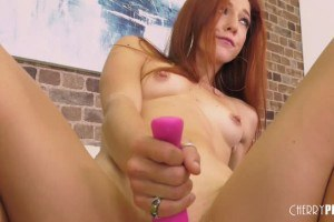 Luna Light Flexible Redhead Pleases Her Pussy With Toys