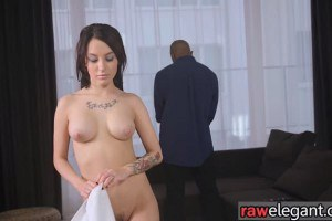 Glamour babe anally rammed by masseurs cock