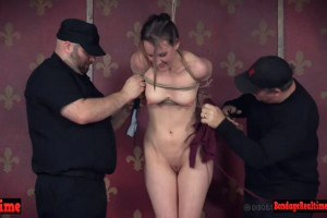 ondage sex slave whipped and restrained