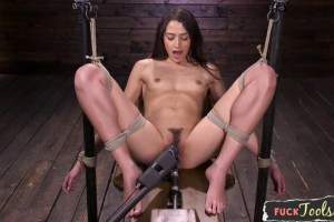 Avi Love has multiple orgasm when tied up