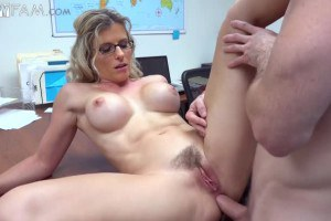 Cory Chase busty stepmom gets fucked in the ass at the office
