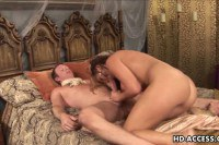 Busty old Venus in anal threesome
