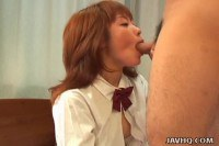 A japanese chick sucking old cock!