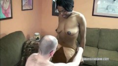 Sweet Kelly Styles gives head to mature dude