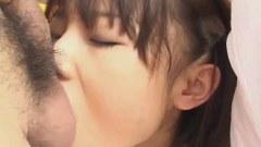 Innocent oriental schoolgirl gets her face fucked