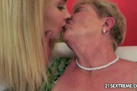 Blonde has great taste for young pussy