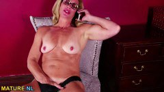 Mature teacher naked and fingering