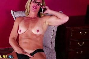 Mature teacher naked and fingering
