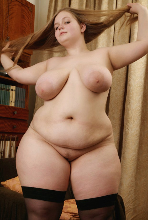 Bbw Chick In Stockings Is Fond Of Her Big Boobs-2616