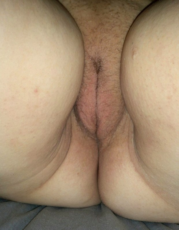 Fat hairy pussy close up