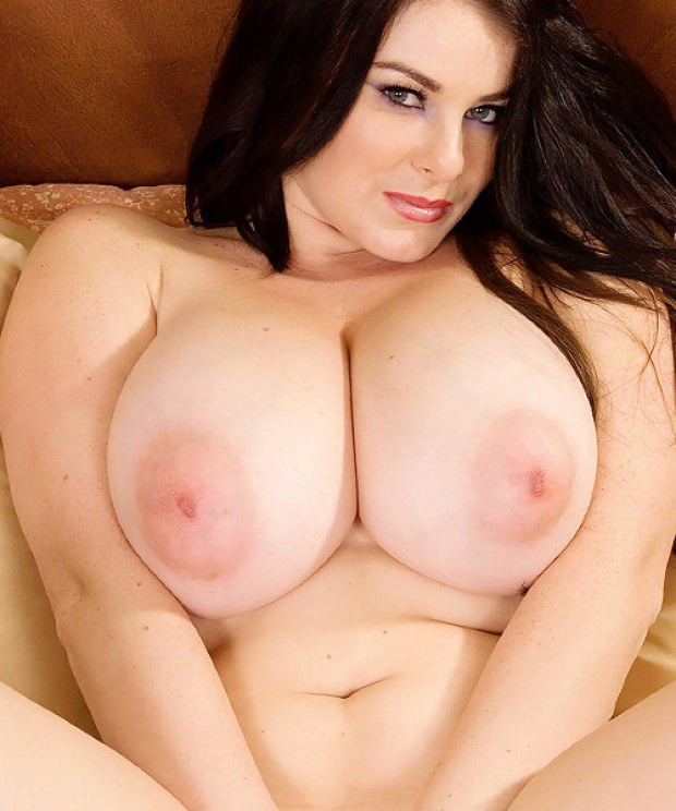 Curvy brunette Karla james has mouthwatering jugs