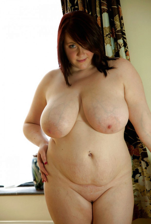 Chubby doll presents her melons