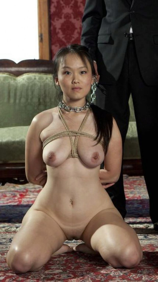 Asian Sub Rope Bound During Pet Play-1879
